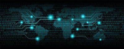 Αφηρημένο υπόβαθρο δυαδικού κώδικα, ψηφιακός κώδικας επικοινωνίας απεικόνιση αποθεμάτων