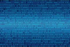 Αφηρημένο υπόβαθρο δυαδικού κώδικα, ψηφιακό απεικόνιση αποθεμάτων