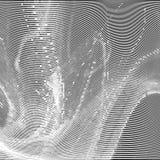 Αφηρημένο υπόβαθρο δυσλειτουργίας bw Στοκ εικόνα με δικαίωμα ελεύθερης χρήσης
