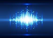 Αφηρημένο υπόβαθρο εικονοκυττάρου χρώματος μπλε, διάνυσμα Στοκ Εικόνα
