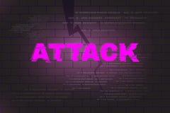 Αφηρημένο υπόβαθρο επίθεσης Στοκ φωτογραφία με δικαίωμα ελεύθερης χρήσης