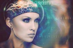 Αφηρημένο υπόβαθρο επιστήμης και τεχνολογίας στοκ φωτογραφία με δικαίωμα ελεύθερης χρήσης