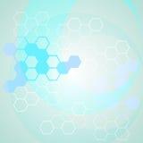 Αφηρημένο υπόβαθρο επιστήμης με τις αλυσίδες μορίων Στοκ εικόνες με δικαίωμα ελεύθερης χρήσης