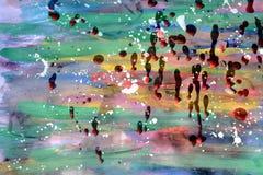 Αφηρημένο υπόβαθρο ζωγραφικής στα χρώματα κρητιδογραφιών Στοκ εικόνα με δικαίωμα ελεύθερης χρήσης