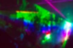 Αφηρημένο υπόβαθρο θαμπάδων με τις φωτεινούς ζωηρόχρωμους ακτίνες και τον καπνό Στοκ φωτογραφίες με δικαίωμα ελεύθερης χρήσης