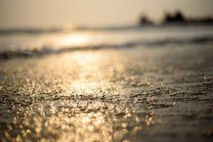 Αφηρημένο υπόβαθρο θαμπάδων, στην παραλία στοκ εικόνα