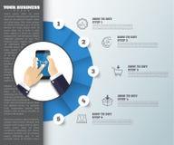 Αφηρημένο υπόβαθρο ιδέας η επιχείρηση infographic μπορεί να χρησιμοποιηθεί Στοκ Εικόνες