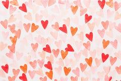 Αφηρημένο υπόβαθρο καρδιών watercolor Αγάπη έννοιας, ευχετήρια κάρτα ημέρας βαλεντίνων στοκ φωτογραφία