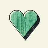 Αφηρημένο υπόβαθρο καρδιών αγάπης Grunge με συρμένη τη χέρι σύσταση κτυπημάτων βουρτσών αναδρομικό διάνυσμα απεικόνισης απεικόνιση αποθεμάτων