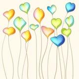 Αφηρημένο υπόβαθρο καρδιών χρώματος Διανυσματική απεικόνιση