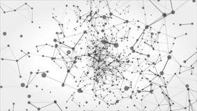 Αφηρημένο υπόβαθρο κινήσεων με τα σημεία και τις γραμμές βρόχος απόθεμα βίντεο