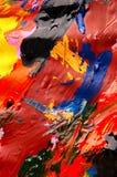 Αφηρημένο υπόβαθρο κινηματογραφήσεων σε πρώτο πλάνο ελαιοχρωμάτων πολύχρωμο άνωθεν Στοκ Εικόνες