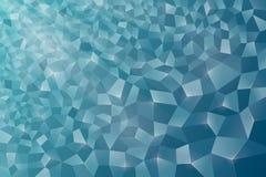 Αφηρημένο υπόβαθρο, κρύσταλλο, μπλε Στοκ Φωτογραφία