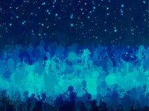 Αφηρημένο υπόβαθρο κτυπημάτων βουρτσών τοπίων νύχτας Στοκ εικόνες με δικαίωμα ελεύθερης χρήσης