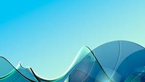 Αφηρημένο υπόβαθρο κυμάτων γυαλιού Στοκ εικόνες με δικαίωμα ελεύθερης χρήσης