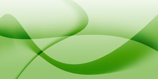 Αφηρημένο υπόβαθρο κυμάτων πράσινου φωτός Στοκ Εικόνα