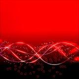 Αφηρημένο υπόβαθρο κυμάτων στα κόκκινα χρώματα απεικόνιση ελεύθερη απεικόνιση δικαιώματος