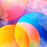 Αφηρημένο υπόβαθρο κύκλων επικαλύψεων με τους κύκλους διάνυσμα Στοκ Εικόνες
