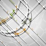 Αφηρημένο υπόβαθρο κύκλων Στοκ Φωτογραφίες