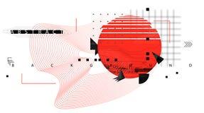 Αφηρημένο υπόβαθρο με τα δυναμικά γραμμικά κύματα ελεύθερη απεικόνιση δικαιώματος