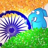 Αφηρημένο υπόβαθρο με τα ινδικά ζώα Στοκ Εικόνες