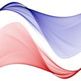 Αφηρημένο υπόβαθρο με τα κόκκινα και μπλε κύματα του διαφανούς πετώντας υλικού ελεύθερη απεικόνιση δικαιώματος