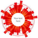 Αφηρημένο υπόβαθρο με τα κόκκινα στοιχεία στο λευκό Στοκ φωτογραφία με δικαίωμα ελεύθερης χρήσης