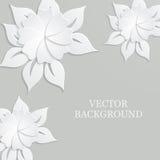 Αφηρημένο υπόβαθρο με τα λουλούδια εγγράφου Στοκ Φωτογραφία