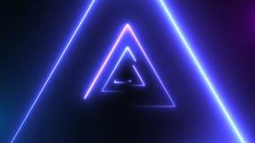 Αφηρημένο υπόβαθρο με τα τρίγωνα νέου φιλμ μικρού μήκους