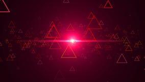 Αφηρημένο υπόβαθρο με τα τρίγωνα περιλήψεων φιλμ μικρού μήκους