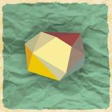 Αφηρημένο υπόβαθρο με τα τρίγωνα Στοκ φωτογραφία με δικαίωμα ελεύθερης χρήσης