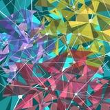 Αφηρημένο υπόβαθρο με τα τρίγωνα Στοκ Εικόνα