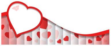 Αφηρημένο υπόβαθρο με την κόκκινη καρδιά Στοκ Εικόνες