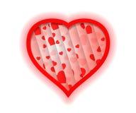Αφηρημένο υπόβαθρο με την κόκκινη μορφή καρδιών Στοκ Εικόνα