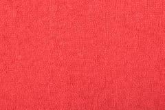 Αφηρημένο υπόβαθρο με την κόκκινη σύσταση, terrycloth στοκ εικόνες με δικαίωμα ελεύθερης χρήσης