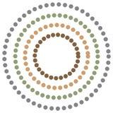 Αφηρημένο υπόβαθρο με τη ζωηρόχρωμη ύπνωση κύκλων διάνυσμα διανυσματική απεικόνιση