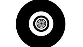 Αφηρημένο υπόβαθρο με τη μαύρη άσπρη σήραγγα απεικόνιση αποθεμάτων