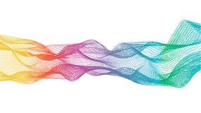 Αφηρημένο υπόβαθρο με τη μορφή καμπυλών ελεύθερη απεικόνιση δικαιώματος