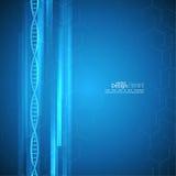 Αφηρημένο υπόβαθρο με τη δομή μορίων DNA Στοκ Εικόνες
