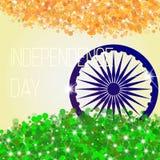 Αφηρημένο υπόβαθρο με τη σημαία της Ινδίας διανυσματική απεικόνιση