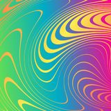 Αφηρημένο υπόβαθρο με τις διαστρεβλωμένες γραμμές Η κυρτότητα του διαστήματος Ρευστή κίνηση ελεύθερη απεικόνιση δικαιώματος