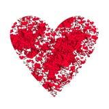 Αφηρημένο υπόβαθρο με τις σημειώσεις και τις καρδιές Στοκ φωτογραφίες με δικαίωμα ελεύθερης χρήσης