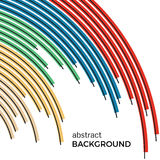 Αφηρημένο υπόβαθρο με τις φωτεινές ζωηρόχρωμες γραμμές ουράνιων τόξων Στοκ εικόνα με δικαίωμα ελεύθερης χρήσης