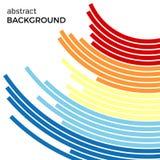 Αφηρημένο υπόβαθρο με τις φωτεινές ζωηρόχρωμες γραμμές ουράνιων τόξων Χρωματισμένοι κύκλοι με τη θέση για το κείμενό σας απεικόνιση αποθεμάτων