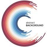 Αφηρημένο υπόβαθρο με τις φωτεινές κόκκινες και μπλε ζωηρόχρωμες γραμμές Στοκ φωτογραφίες με δικαίωμα ελεύθερης χρήσης