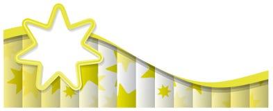 Αφηρημένο υπόβαθρο με τον κίτρινο ήλιο Στοκ Φωτογραφία
