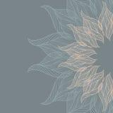 Αφηρημένο υπόβαθρο με το δαντελλωτός λουλούδι Στοκ εικόνες με δικαίωμα ελεύθερης χρήσης