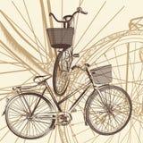 Αφηρημένο υπόβαθρο με το ποδήλατο στο εκλεκτής ποιότητας ύφος Στοκ φωτογραφίες με δικαίωμα ελεύθερης χρήσης