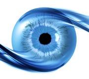 Υπόβαθρο με το φουτουριστικό μάτι Στοκ Εικόνες