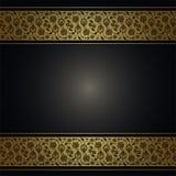 Αφηρημένο υπόβαθρο με το χρυσό floral σχέδιο Στοκ φωτογραφία με δικαίωμα ελεύθερης χρήσης